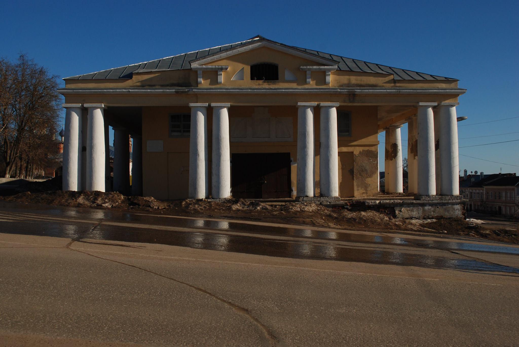 Торговые ряды на Соборной площади, архитектор И.С. Гагин, XIX в., 2015 г.