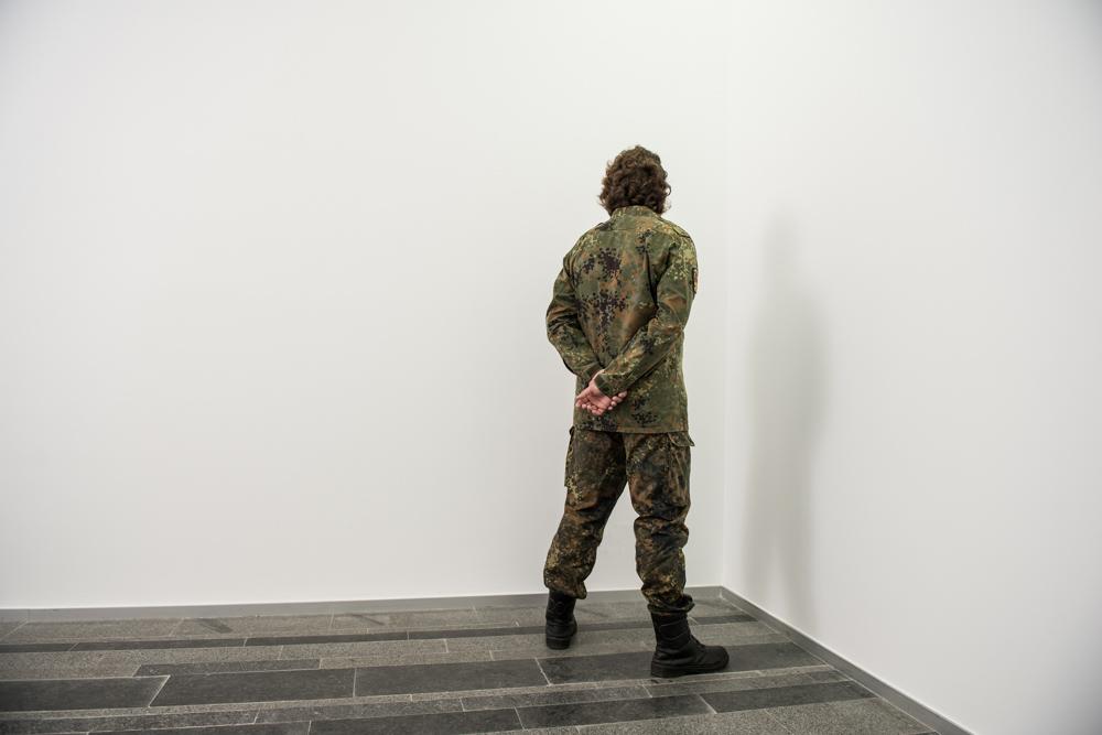 Сантьяго Сьерра. Ветераны войны в углу, 2017