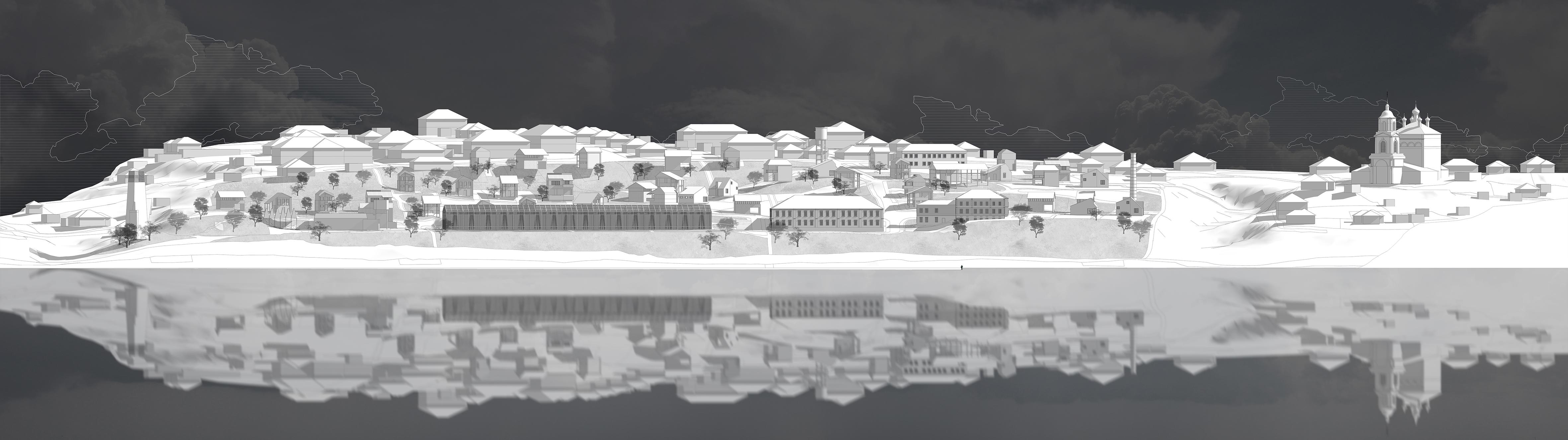 Панорама, вид с реки. Проектное предложение