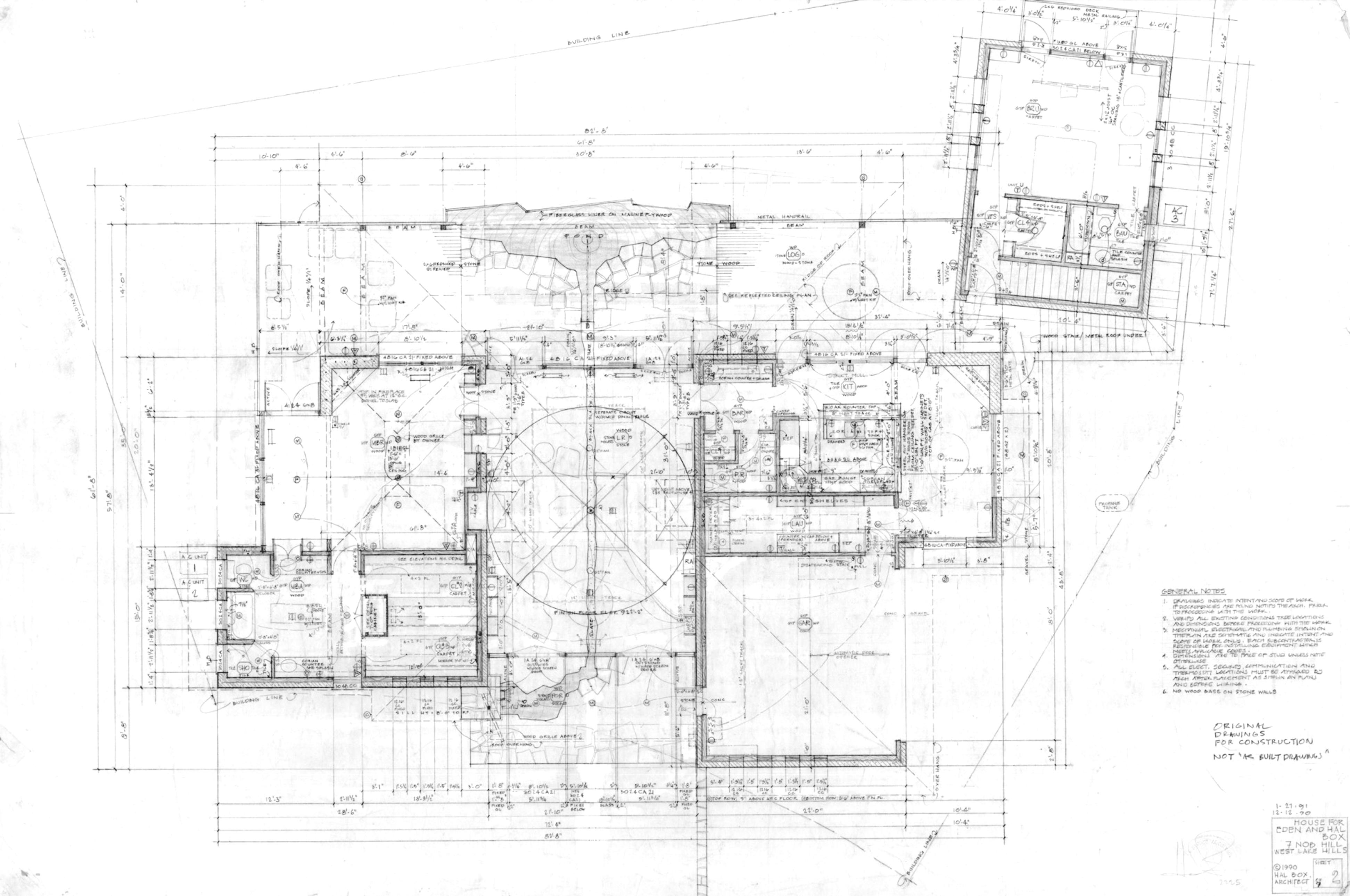 Рабочие чертежи автора Дома на Ноб-Хилл, 1991