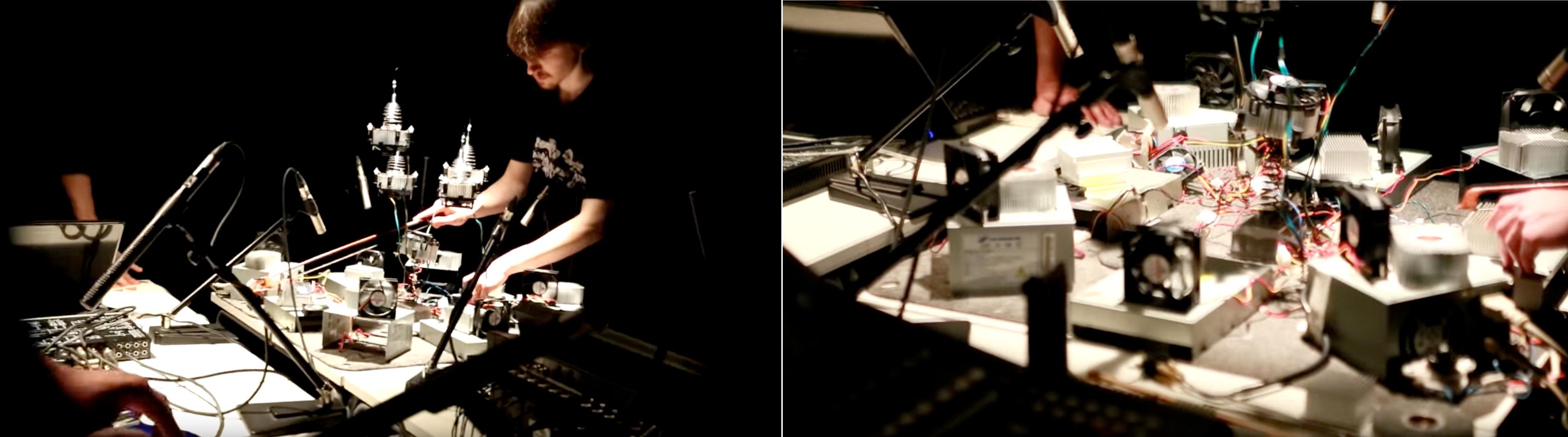 Борис Шершенков / Олег Макаров / Patrick K.-H., электроакустическая импровизация.Галерея Плавающего Звука.