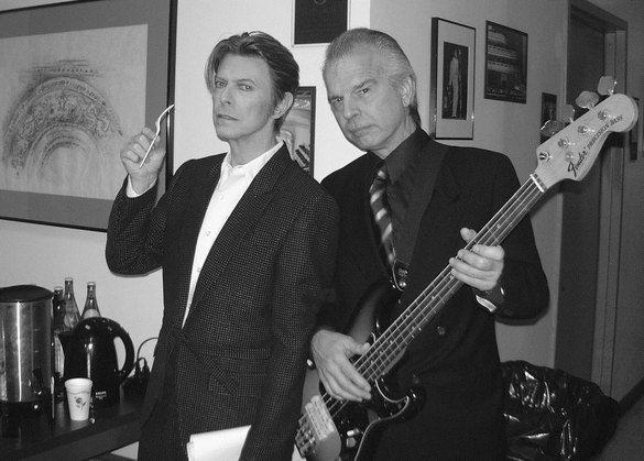 Дэвид Боуи и Тони Висконти (pinterest.com)
