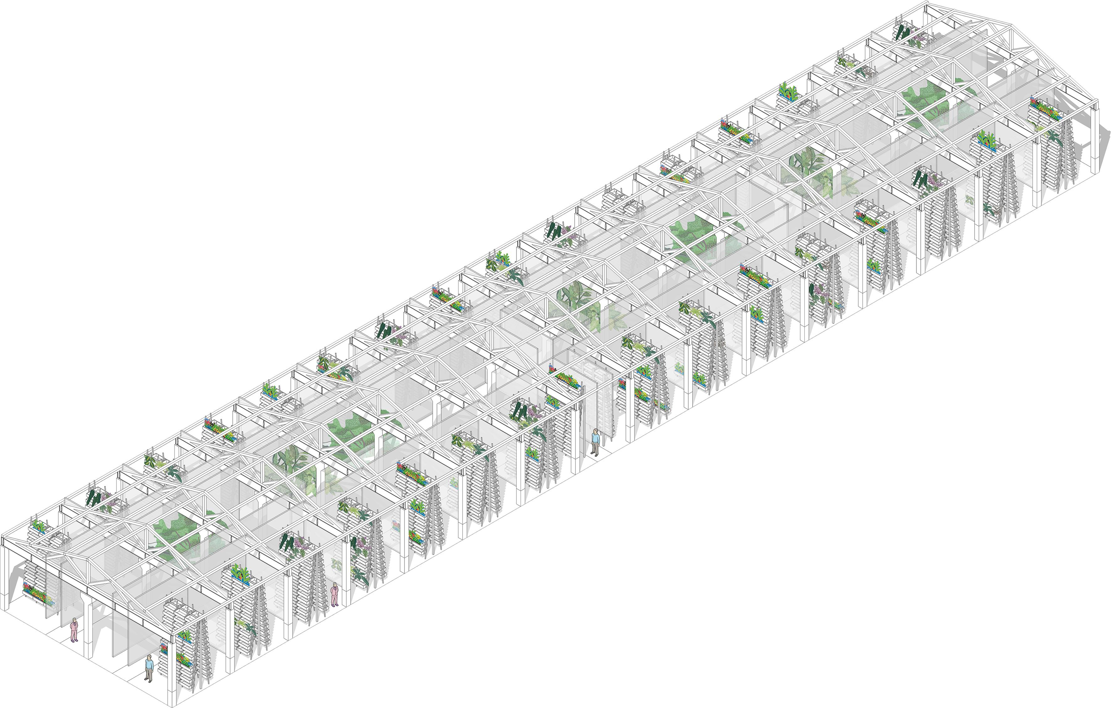 Бывший выделочный цех / Реконструкция под теплицу с возможностью обустройства системы вертикального озеленения