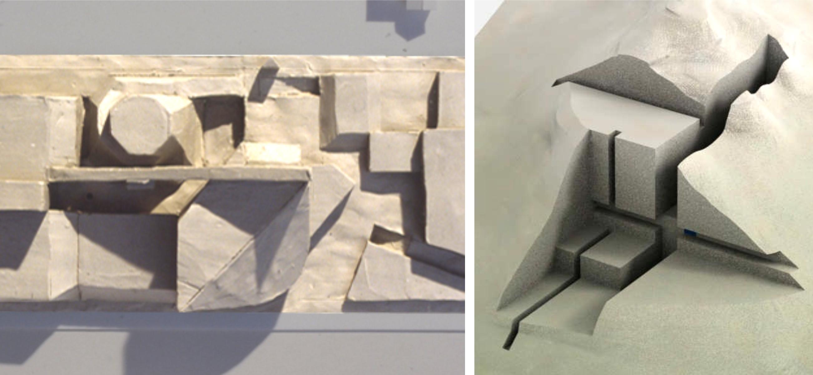 Глиняные макеты похожи на скульптурное изображение. Вы концентрируетесь скорее на пространстве, чем на стенах