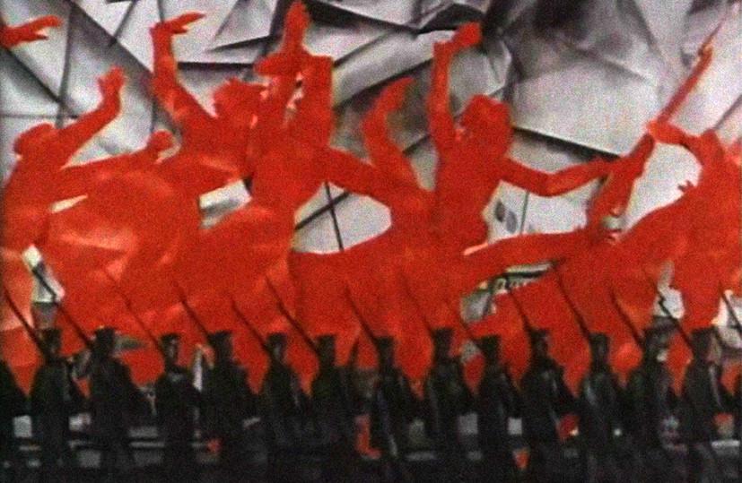 Кадр из мультфильма Юрия Норштейна«25-е, первый день», посвященного 50-летию революции
