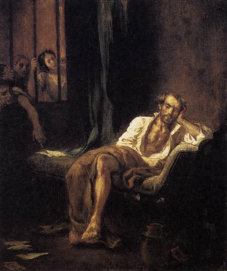 «Тассо в больнице Св. Анны», Эжен Делакруа