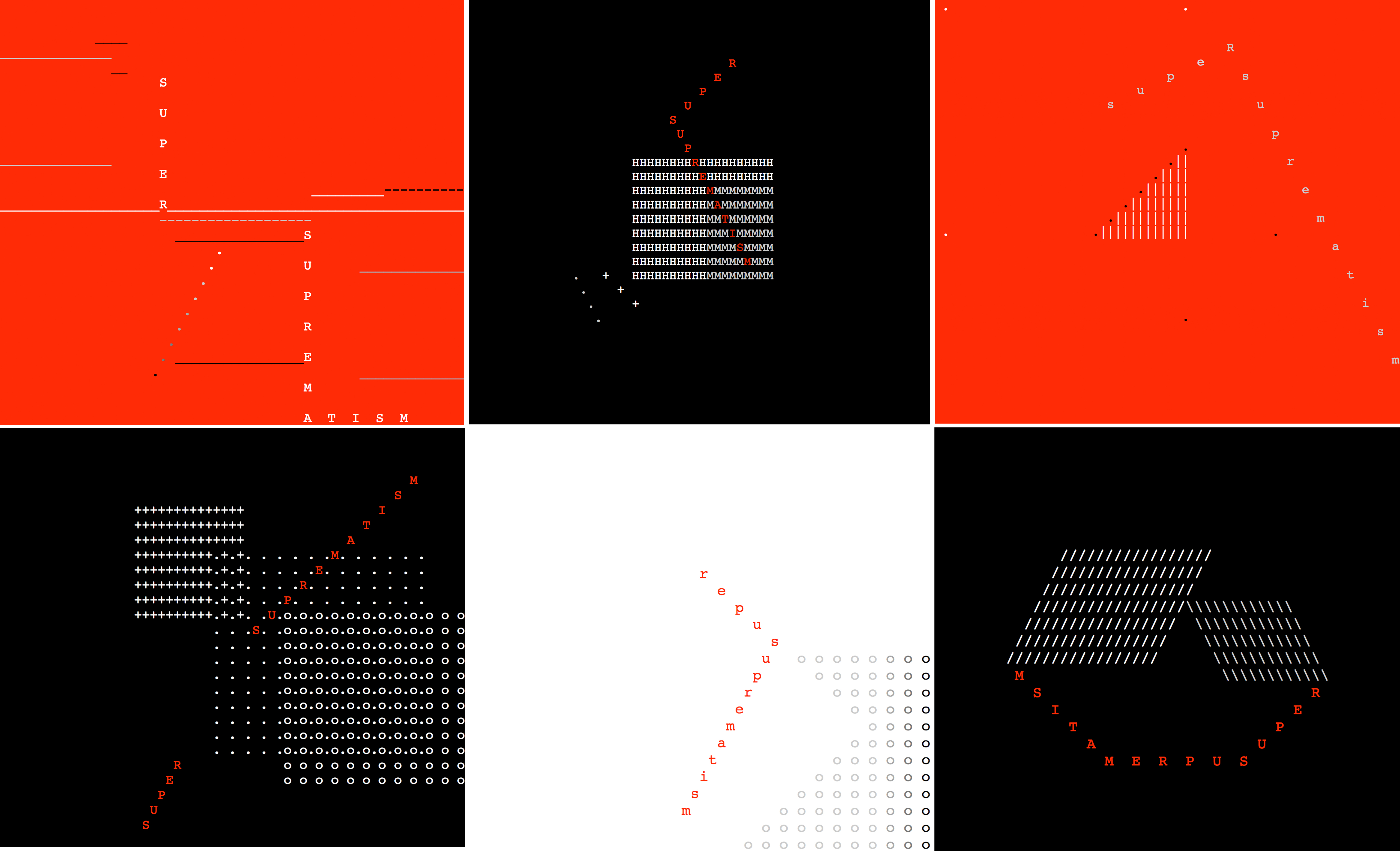 SUPER SUPREMATISM: text series by COH, 2000