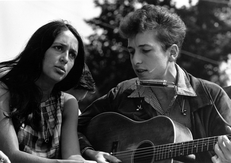 Боб Дилан и Джоан Баез