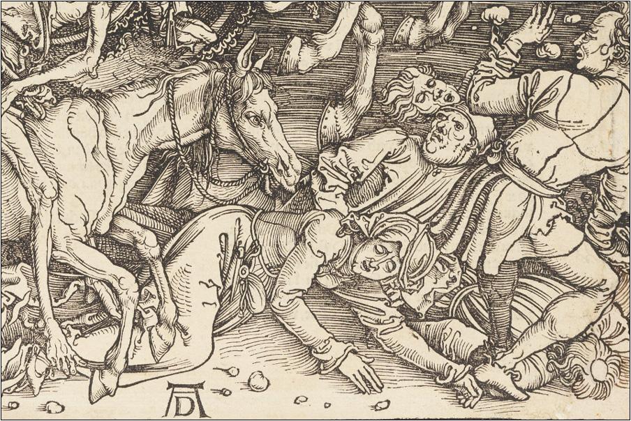 «Апокалипсис». Альбрехт Дюрер. 1496-1498. Фрагмент