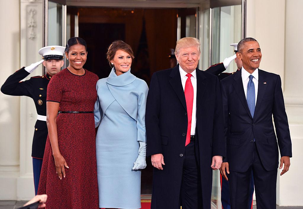 20 января 2017 г. Инаугурация Дональда Трампа. Уравновешивание двух цветов как у глав государств, так и у них же с женами
