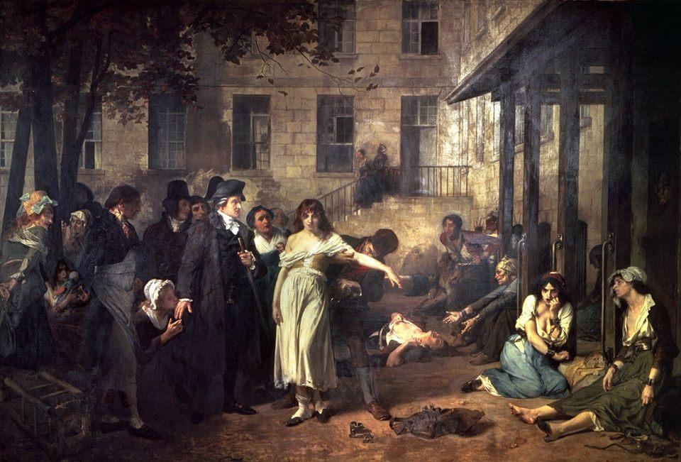 «Доктор Филипп Пинель освобождает от оков психически больных в больнице Сальпетриер в 1795 году», Робер-Флёри (1838-1912)