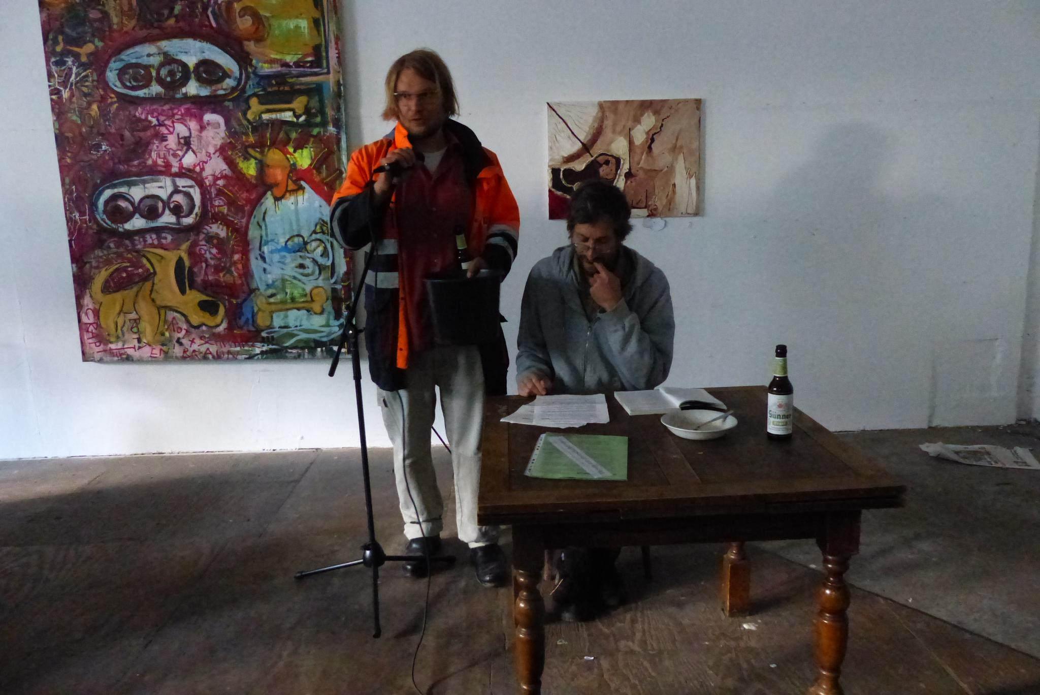 Ларс Ланге и <a>Йорг Бергстед</a>, один из самых известных в Германии анархистов.
