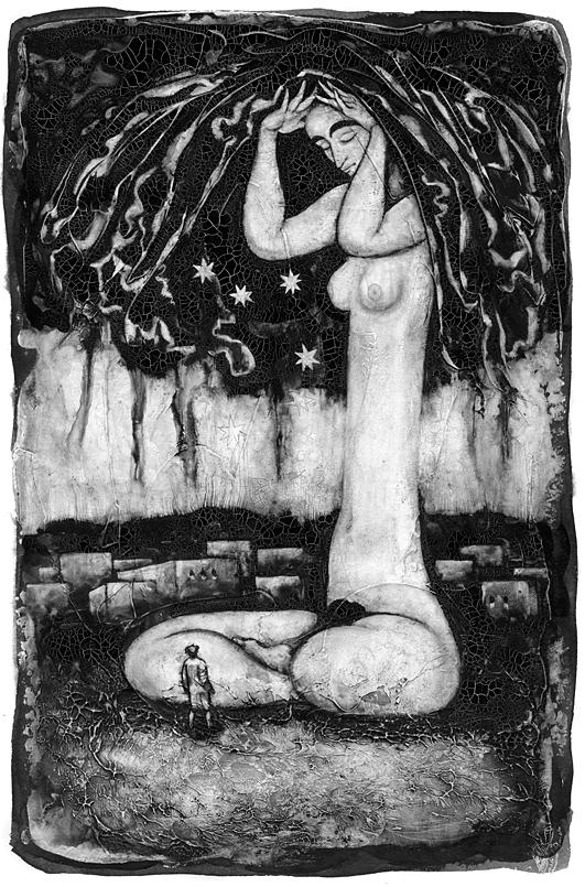 """Ассоль Сас. Сон с растущей девушкой. Иллюстрация к книге М.Павича """"Хазарский словарь"""""""